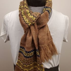 Vintage knitted scarf glove workers usA